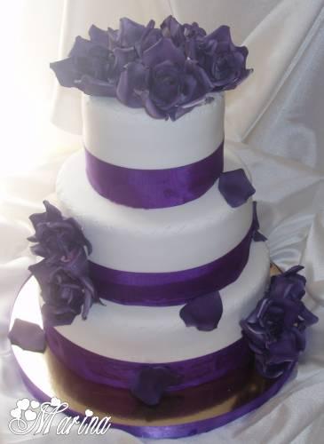 Фото круглых свадебных тортов