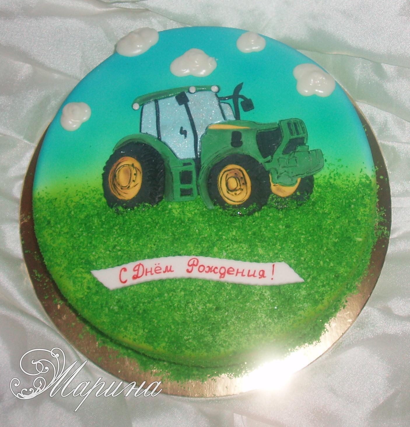 3 D торт Трактор. Как сделать 3D торт для мальчика 43